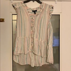 Jessica Simpson blouse- stripped size: Large